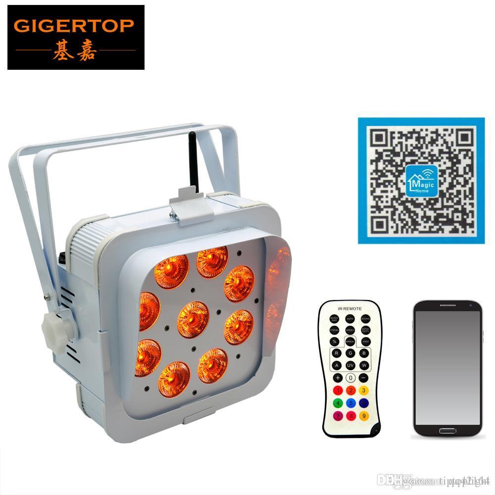 TIPTOP TP-G3049-5IN1 Preis ab Promotion mini Smart dj Uplighting Licht 9 * 15W RGBAW 5in1 Smartphone-Steuerung Tragegriff