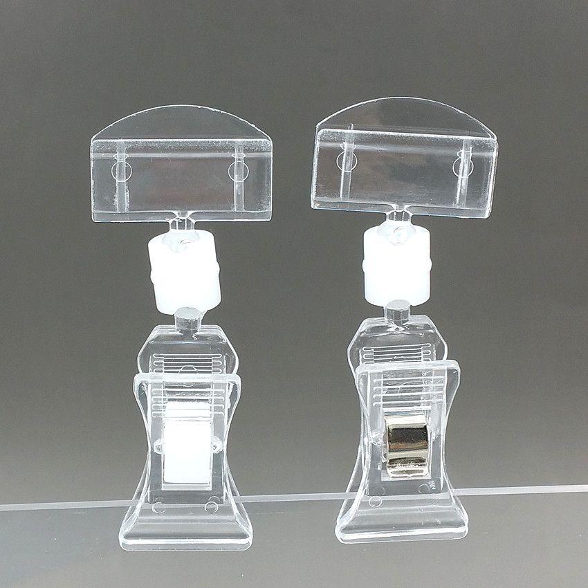 Прозрачный пластиковый знак бумаги памятки ценник держатель карты дисплей POP поворотный рекламные клипы высота 72 мм с высоким качеством 20 шт.