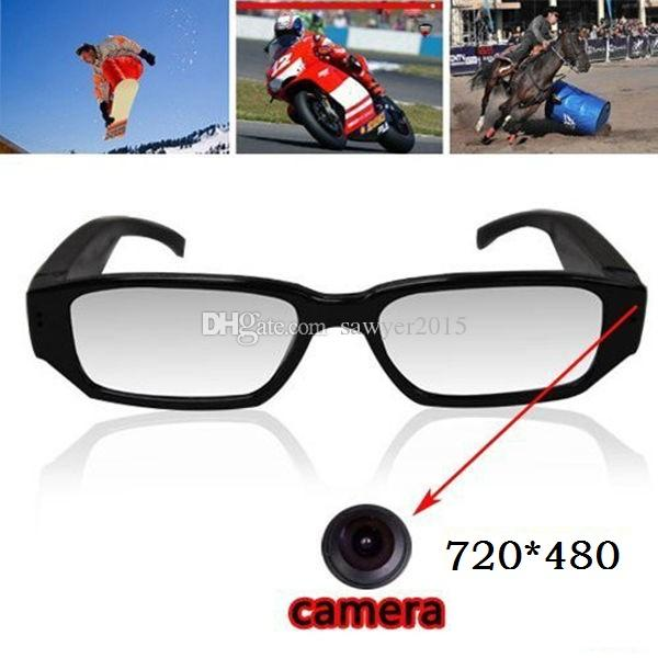 720*480 30fps glasses Pinhole Camera Eyewear video camera Eyeglass Mini Dv DVR camera Video & Audio Recorder with retail box