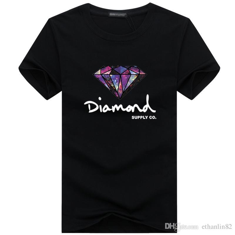 Maglietta da uomo T-shirt da uomo con diamanti T-shirt manica corta da uomo Abbigliamento moda di marca maschile Hip Hop Camisetas Homme