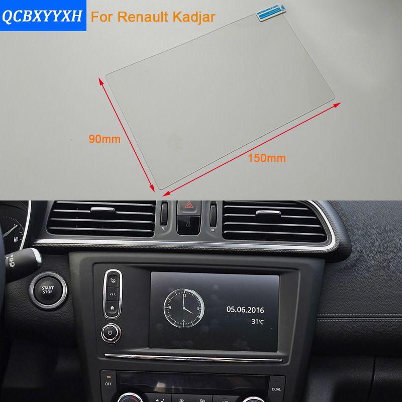 Car Styling 7 Inch GPS Navigation Screen Steel Protective Film For Renault Kadjar Control of LCD Screen Car Sticker 2016-2017