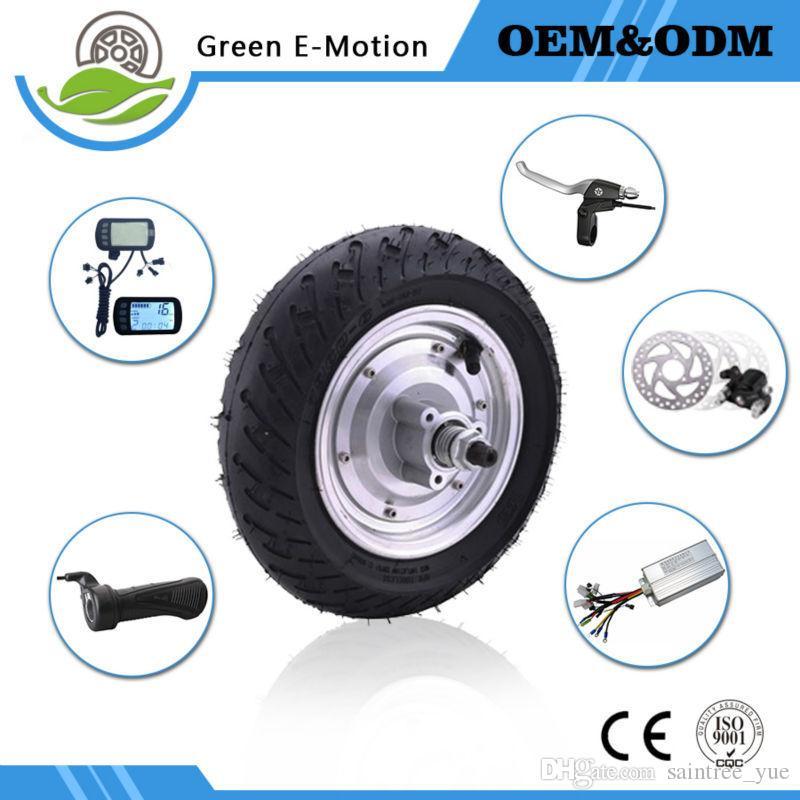 9 inç 36 v tekerlekli motorlu 250 w / 300 w / 350 w / 500 w elektrikli bisiklet parçası ile motor bisiklet hub motor kiti bölüm aksesuarı