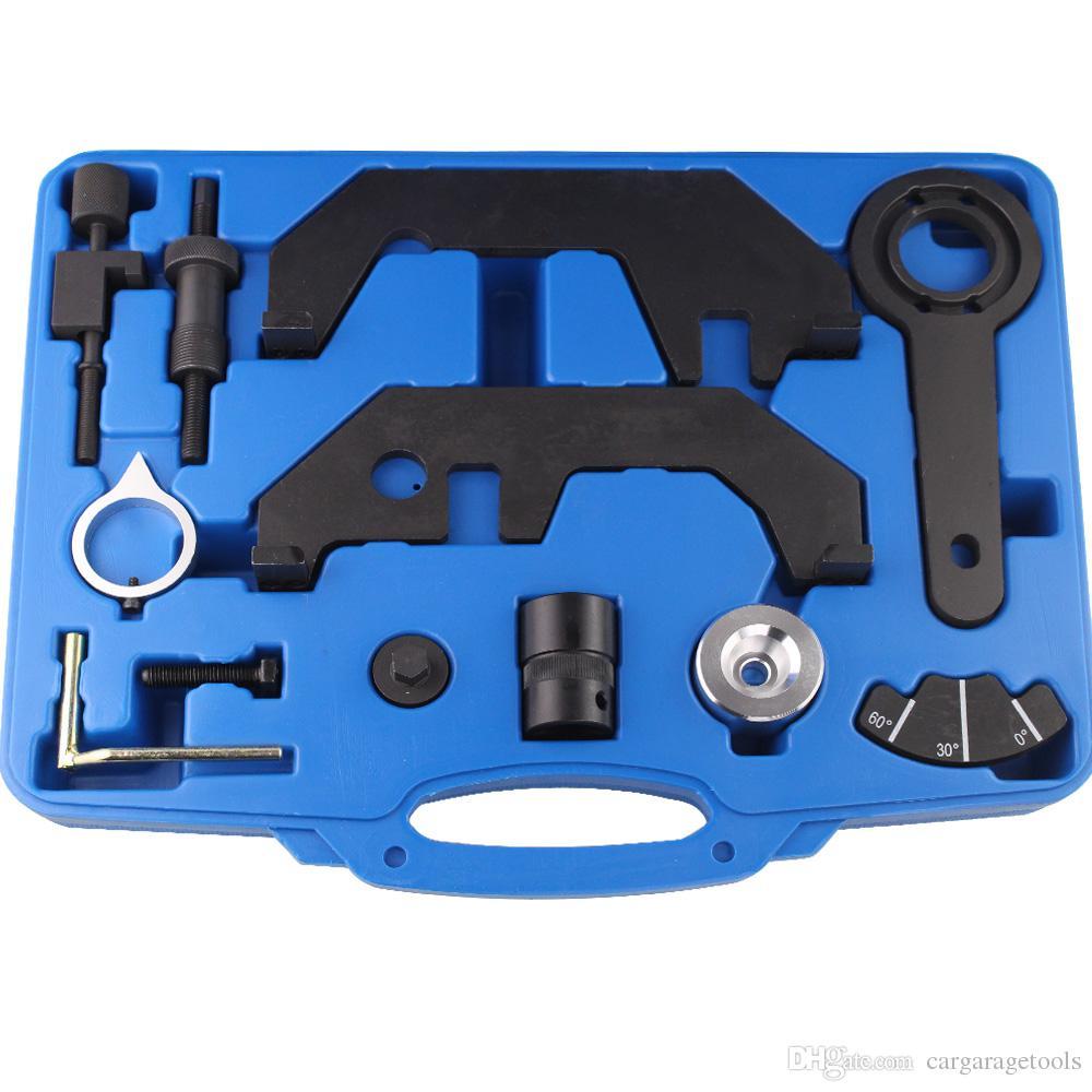 Engine Camshaft Locking Tools 12 pcs Car Gargue Timing Tool For BMW 730i 745i 545i 645i 750i N62TU N62 N73 Engines