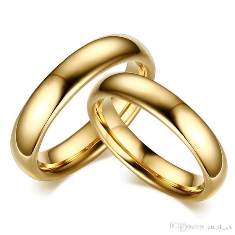 Amante Do Vintage de Carboneto De Tungstênio Anéis De Casamento Para Casal Solid Gold-Cor do Amante do Noivado Anel de Jóias Frete Grátis