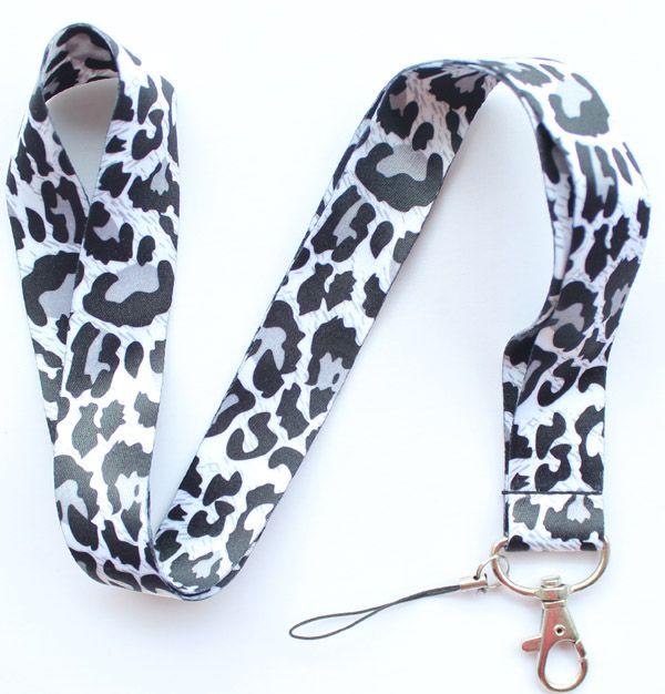 Wholesale Mixed 10 pcs Popular Cartoon Leopard print Mobile phone Lanyard Key Chains Pendant Party Gift Favors 0015