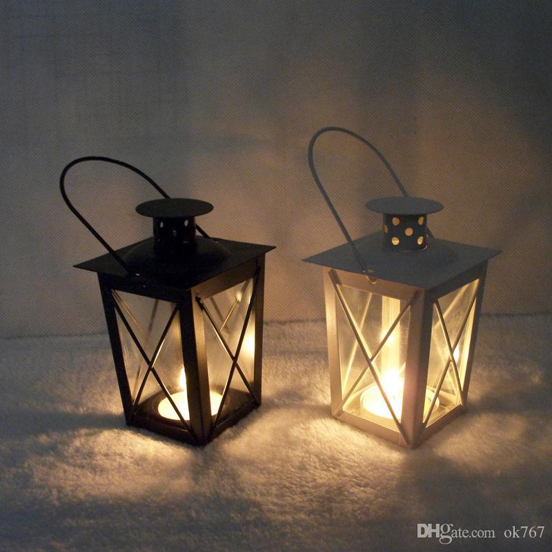 wholesale black white metal candle-holders