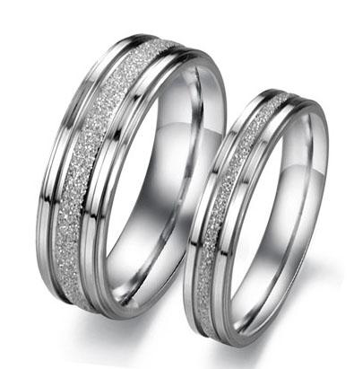 316L Stainless Steel Rings OPK Classical Simple Design Lover's Wedding Rings Personalized Dull Polish Women Men Couple Jewelry Low Price