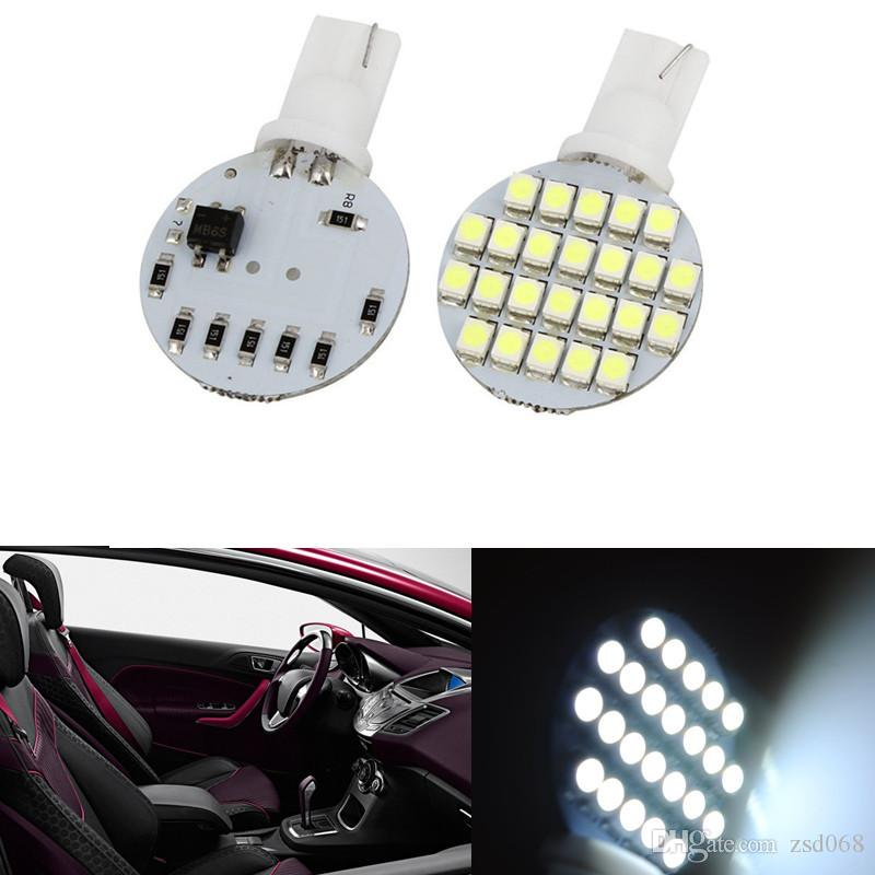 50PCS Wedge T10 24 LED SMD 194 921 147 168 W5W 1210 192 RV Lampe Ampoules blanc prix de gros 12V DC
