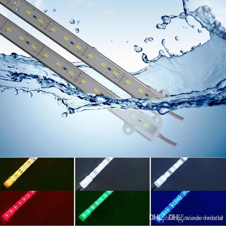 La barre imperméable menée de colle allume 50cm 100cm 21W / M 0.5M 1M IP68 a mené la lumière rigide de barre lampe de barre de bande de CC 12V 5630 LED