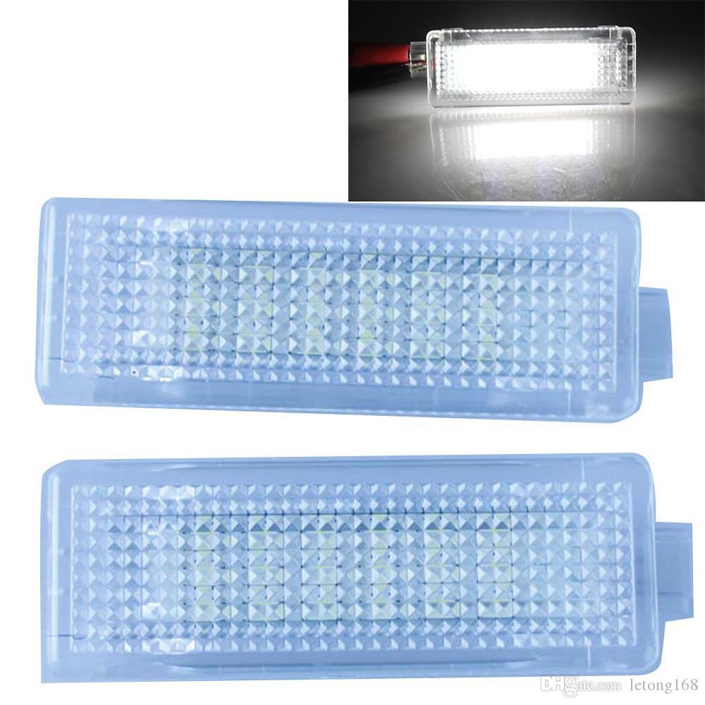 2PCS LED가 무료 도어 램프 라이트 BMW E60 용 E61 E90 E81 E63 E65 X 시리즈 X 시리즈 미니 시리즈 무료 배송