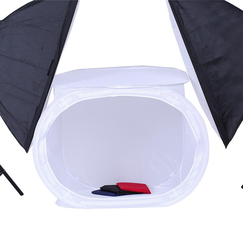 Free ship 50x50cm High quality 2017 1 Set multi-function Photo Studio Shooting Tent Light SoftBox Soft Box with 4 Backdrops