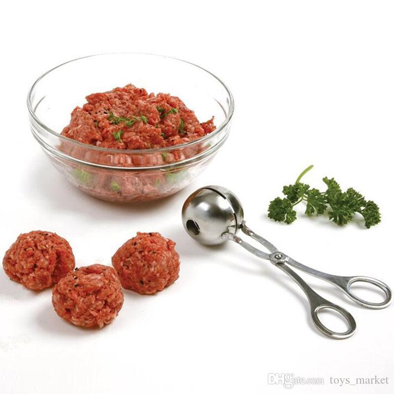 Non Stick Meat Baller Maker Melon Stainless Steel Cookie Dough Meatball Scoop