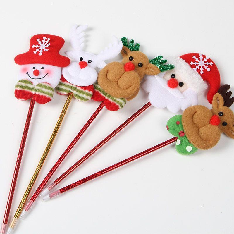Décorations de Noël Santa Claus dessin animé belle balle point stylo maternelle Noël cadeau jouets en gros