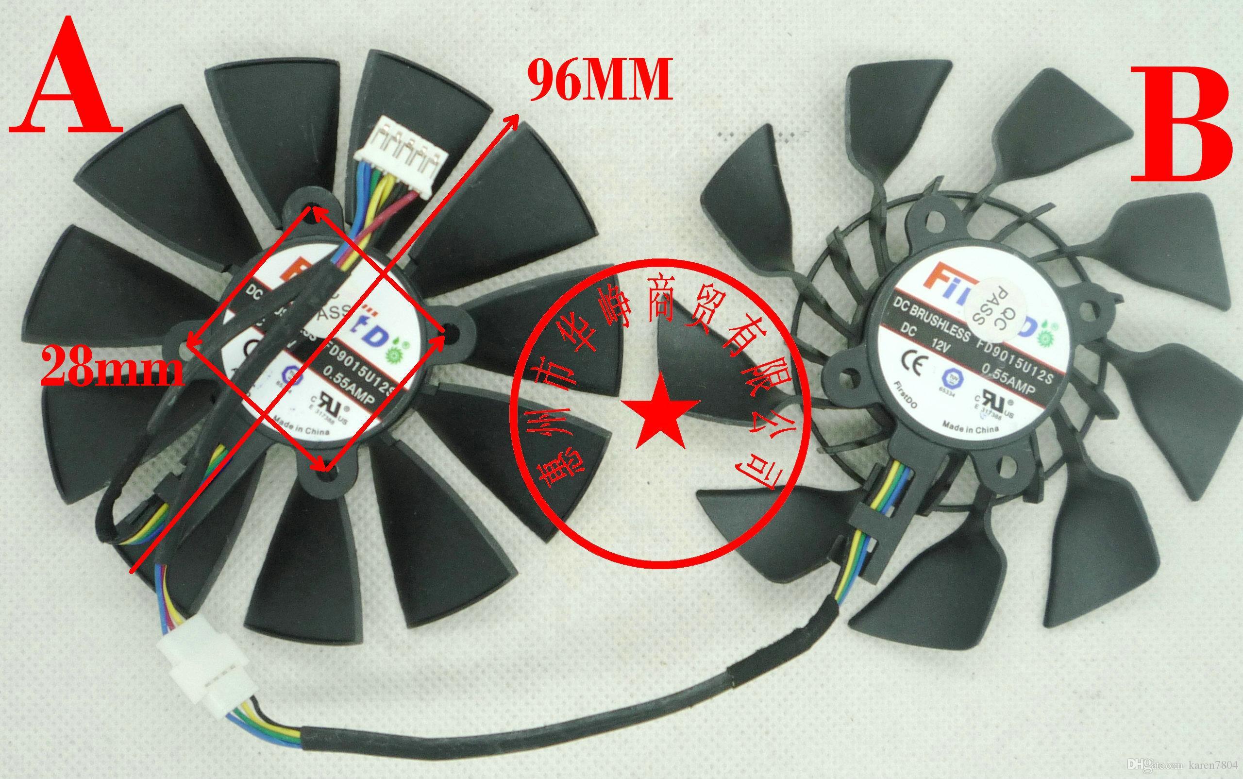 ASUS GTX780 GTX780TI R9 280X / 290X T129215SU FD9015U12S用オリジナルパラディングラフィックカードファン