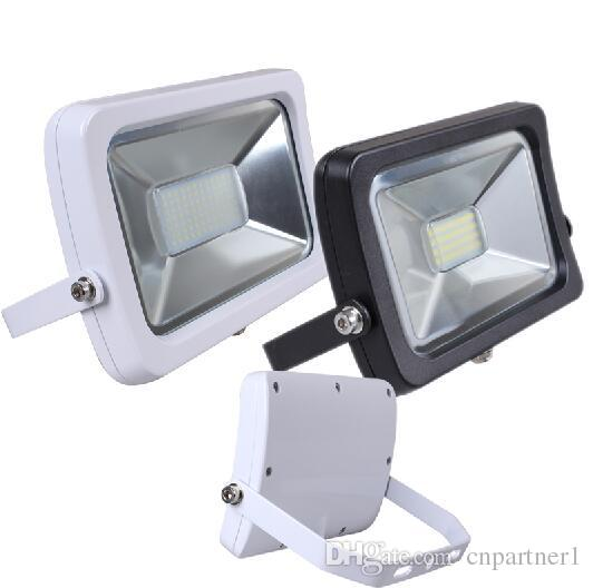 Floodlights 10w 20w 30w 50w Led Slim Waterproof Flood Light Lamps White Black Shell Smd Cob Led Chip Outdoor Wall Floodlamps 85 265v Ce Rohs 12v Led Flood Lights Garden String Lights From