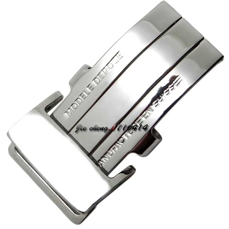 20mm NEW High Quality Men Women Stainless Steel Watch Band Strap Buckle Silver Deployment Clasp for Breitling Band