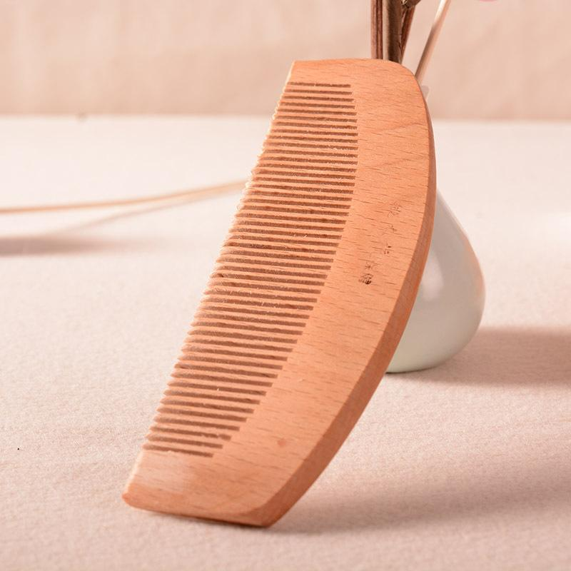 Portable Green Sandalwood comb hand jade sandalwood anti-static massage comb boutique goods
