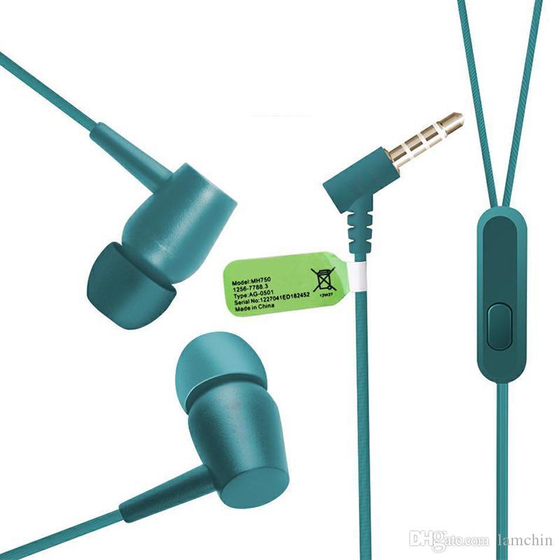 EX750 Kopfhörer In-Ear-Stereo-Bass-Headset Kabelgebundener Kopfhörer Freisprecheinrichtung Remote-Mikrofon-Ohrhörer Für iPhone Samsung Sony 3,5-mm-Buchse mit Paket