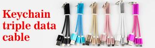 Keychain triple data cable