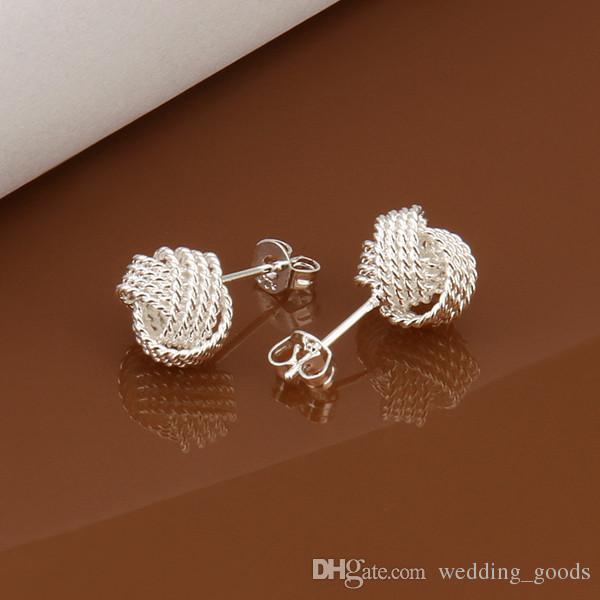 hot sale tennis sterling silver plate jewelry earring for women WE013,fashion 925 silver eaarings