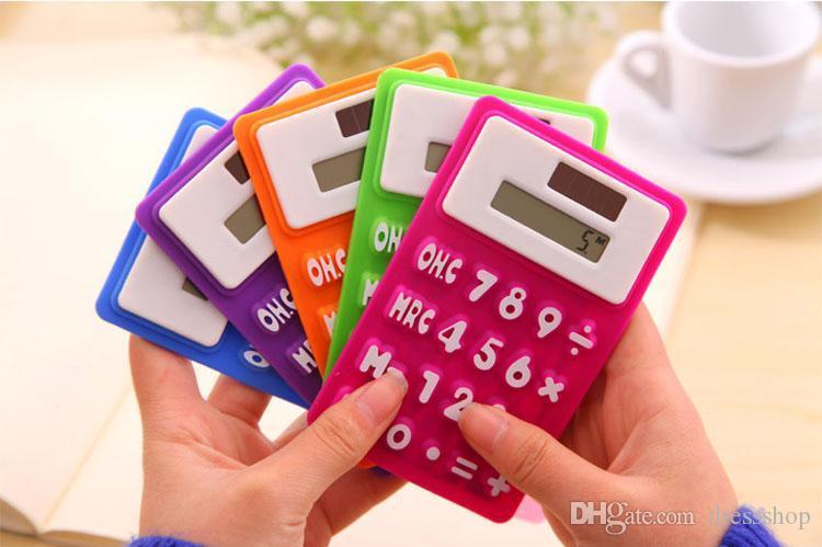 Deli Solar Calculator Scientific Calculator Leuke Mini Silicone Calculator Briefpapier Office Computer