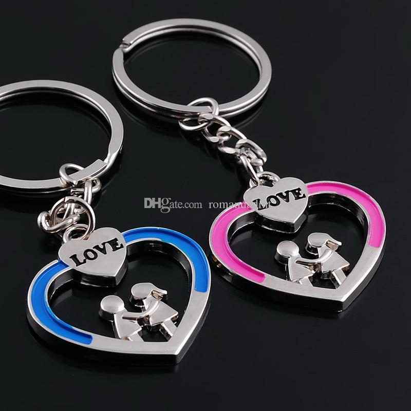 Lovers Key chain Holding Hands Lovers style Alloy Key Ring Wedding Supplies Keychain Favors + DHL free shipping