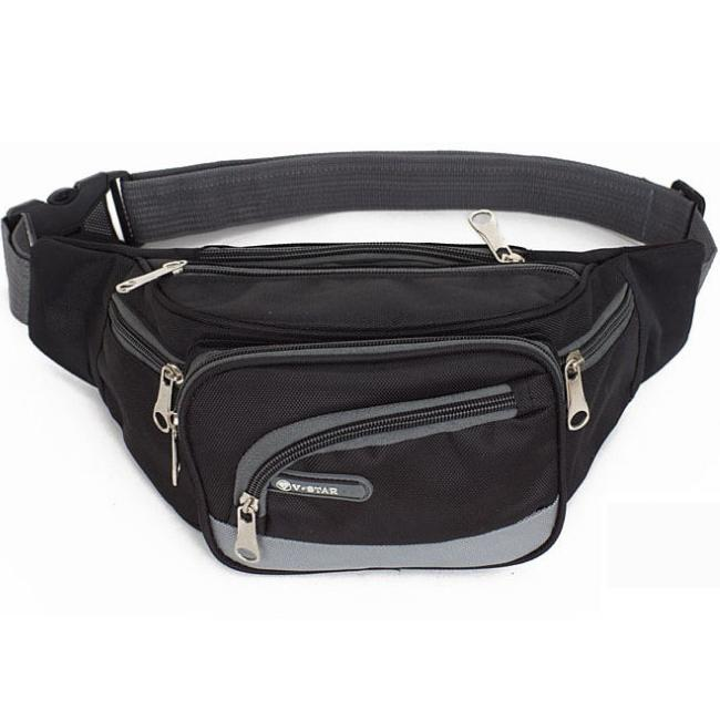 Womens Travel Waist Bag Fashion Fanny Pack for Ladies Water Resistant Nylon Crossbody Chest Pouch Sport Bumbag Light Gray