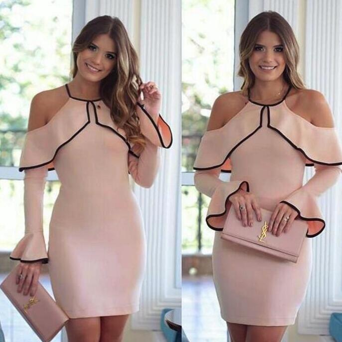 Bel regalo Sexy Street Style Abiti senza spalline Hit Color Hanging Neck Slim Pacchetto Hip Dress Dimensione grande LX024