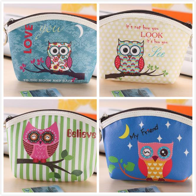 Münztüte 3D Printing Owl Muster Münze Taschen Münzhalter Geschenk Geldbörsen Damen Mädchen Geschenke