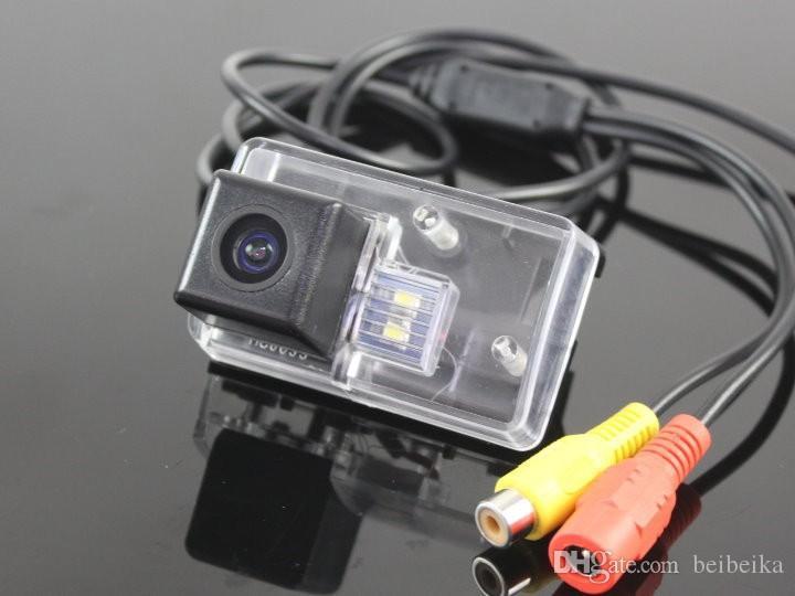 Автомобильная камера заднего вида для Peugeot 206 Reverse Camera / HD CCD RCA NTST PAL / фонарь освещения номерного знака OEM