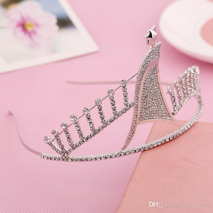 Nuove corone accessorio per capelli con strass gioielli graziosi corona senza pettine tiara hairband bling bling accessori da sposa # 369
