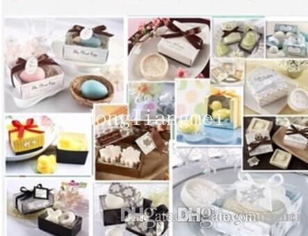 300pc Wedding Gifts Wedding Favors Duck Birds Love Toilet soap Wedding Supplies Gift box Packaging #Z508
