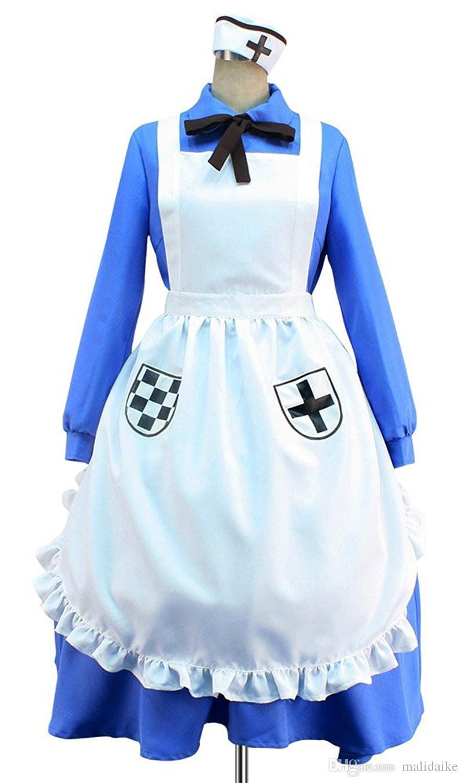 Malidaike 애니메이션 할로윈 파티 정장 APH 축 파워 헤타 리아 Nyotalia 영국 / 영국 여자 코스프레 의상 드레스