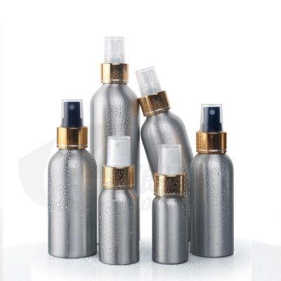 Großhandel 100 ml leere aluminium flaschen mit spray pumpe, 3,5 oz spray flaschen 20 teil / los