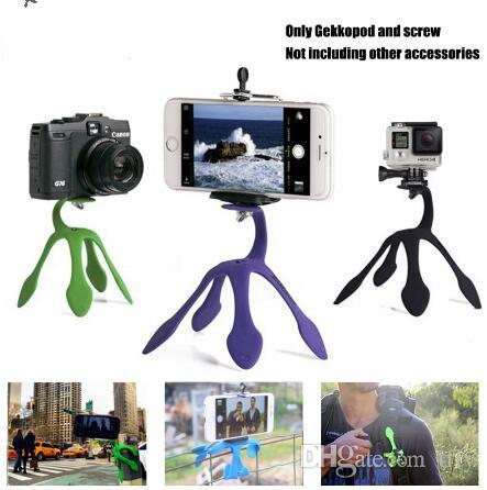 Gekkopod Portable Universal Flexible Gecko Mini Tripod Mount Multi Function Phone Camera Stand Octopus Spider Holder For iphone 8 7 6 6s
