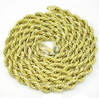 """Collana a catena da 24 """"da 10"""", in oro giallo, corda da 10 """", in oro giallo, 10 g"""