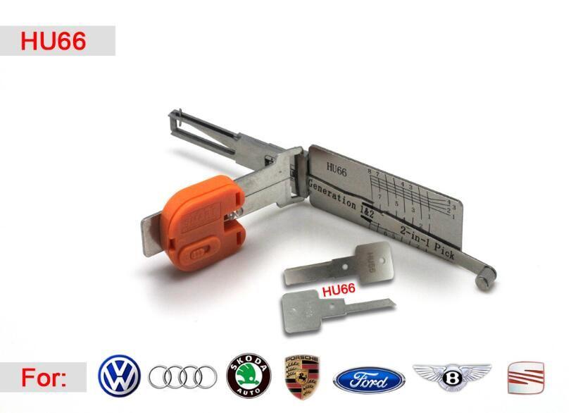 [SMART] HU66 2 in1 Audi Volkswagen koltuk skoda Porsche için oto pick ve dekoder oto seçim çilingir için araçları ile yüksek kalite