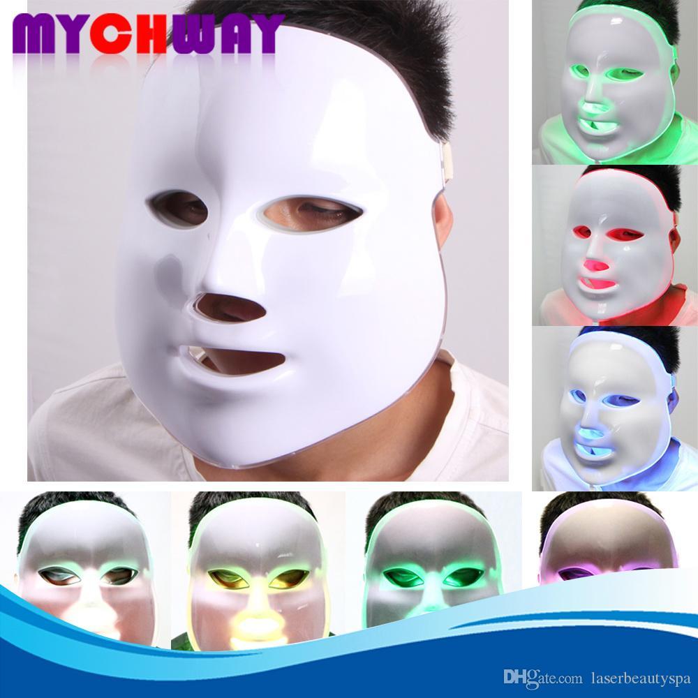 7 couleurs Photon PDT conduit soins de la peau masque facial bleu vert lumière rouge thérapie appareils de beauté expédition rapide