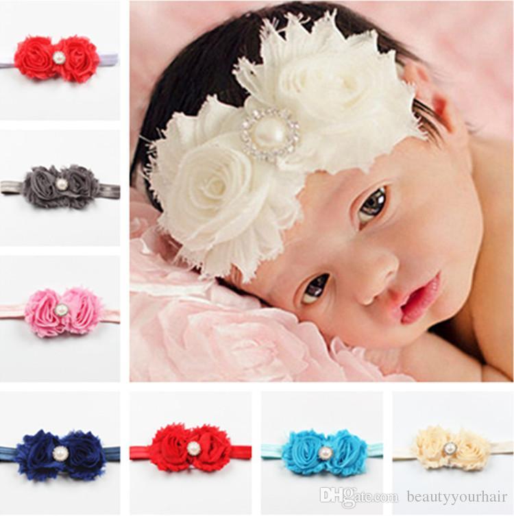 Baby Flower Headband Infant Toddler Boy Girl Cotton Head Band Purple UK SELLER