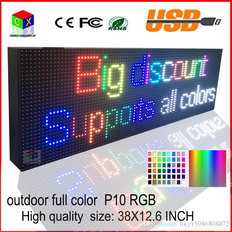 im Freien versiegelte Kasten LED unterzeichnen usb programmierbare rollende Informationen geführte Anzeige