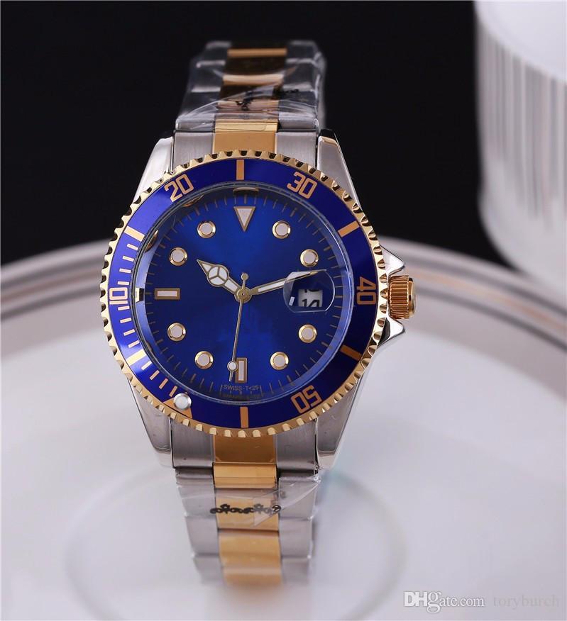 Совершенно новый с логотипом роскошные мужские даты наручные часы кварца движения верхний горячий бренд часы бросают