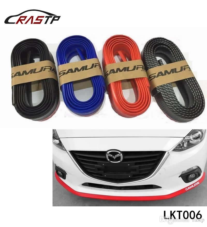 Carbon Fiber Samurai 2.5M Rubber Lip Skirt Protector Car Scratch Resistant Rubber Bumpers Car Front Lip Bumpers Decorate RS-LKT006