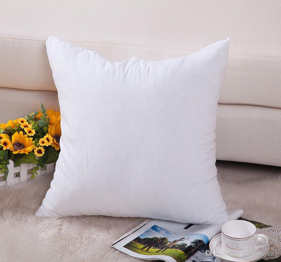 Beyaz renk 6 oz için saf pamuk tuval DIY boya minder örtüsü özelleştirilmiş baskı boş 6 oz pamuk yastık kapak DIY için baskı / boya
