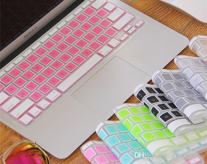 Spedizione gratuita 10pcs-new cristallo guardia 11.6 pollici colorato silicone copertura della tastiera della tastiera di protezione per a-p-p-l-e m-a-c-b-o-o-k aria