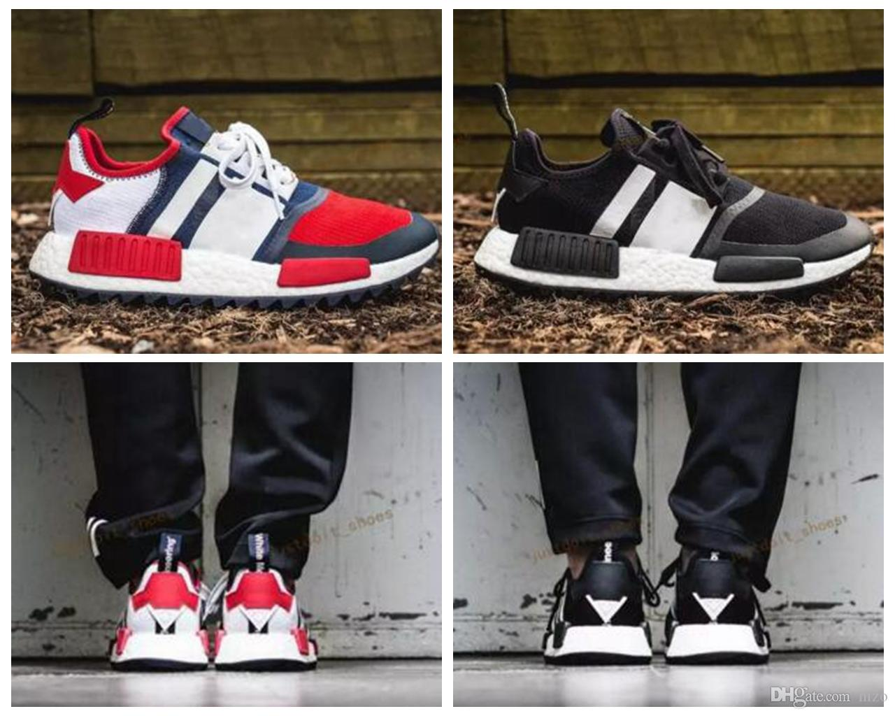 uk availability 210ff d01de 2017 White Mountaineering X NMD Trail PK Rot Blau Schwarz Shoes Fashion NMD  R1 Runner Mens BA7519 Sneakers Running Shoes Size 40 44 White Running ...