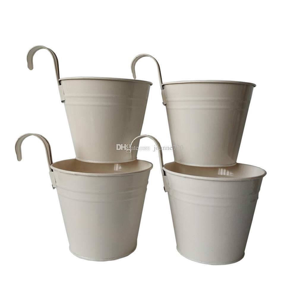 trasporto libero bianco appeso rotonda di metallo Vaso di fiori Planter Ferro potes fiore del gancio del muro di nozze fiore decorativo vasi bonsai pentola