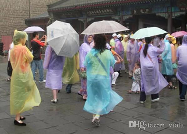 Kerelik Yağmurluk Moda Sıcak Tek Kullanımlık PE Yağmurluklar Panço Yağmurluk Seyahat Yağmurluk Yağmur Giyim Seyahat Yağmurluk DDA1249-A