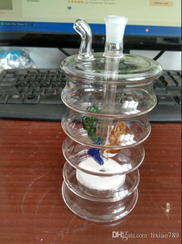 Filtro a cinque strati Caratteristiche con vaso filtrante in vetro e tubi dell'acqua in vetro