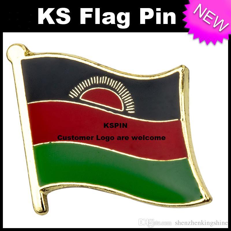 Malawi Flag Badge Flag Pin 10pcs molto Spedizione gratuita KS-0113