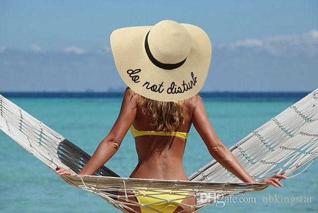 2019 Женская Широкая Поля Вышивка Соломенная Шляпа Пляжная Шапка Складные Шляпы Солнца 6 цветов Бесплатная доставка